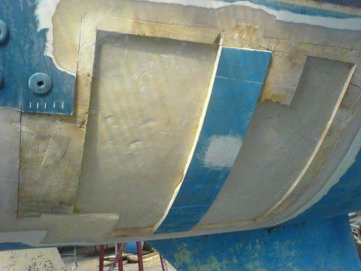 delaminazione scafo in vetroresina